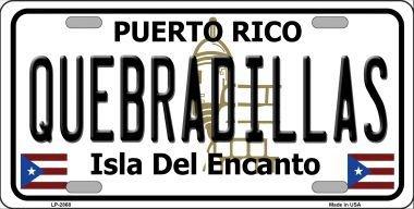 Metal Rico Puerto (Smart Blonde LP-2868 Quebradillas Puerto Rico Metal Novelty License Plate)