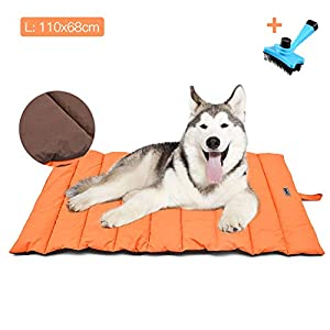 Cama para Perros Grande / Mediana Estera Portátil para Perros IMPERMEABLE Manta de Picnic Familiar Multifuncional…