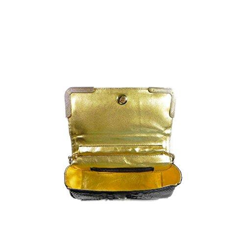 Pochette Clutch in pitone | Ghibli | 4607-PIT-647-157-Blu
