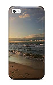 Imogen E. Seager's Shop Cheap durable Protection Case Cover For Iphone 5c(footprints On A Beach Earth Nature Beach)