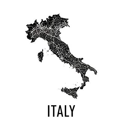 Italy Map Wall Art.Amazon Com Italy Map Map Italy Italy Wall Art Italy Print Italy