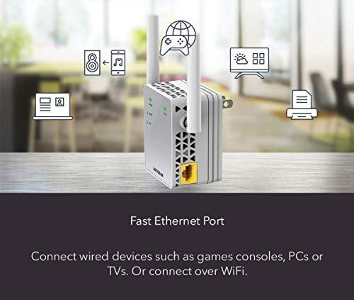 NETGEAR WiFi Range Extender AC750 Dual Band | Couverture WiFi jusqu'à 750 Mbps (EX3700)