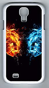 Fire Fist vs Water Fist Hard Cover Back Case For Samsung Galaxy S4,PC White Case for Samsung Galaxy S4 hjbrhga1544