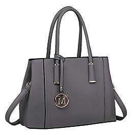 Miss Lulu Stylish Design Ladies Top Quality Litchi Skin Pu Leather Tote Shoulder Handbag for Women