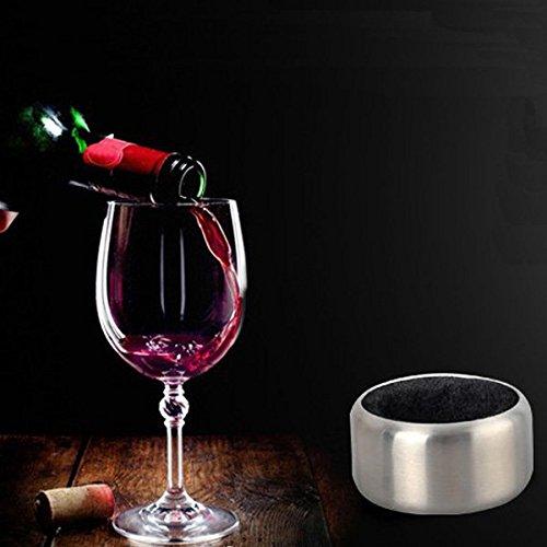 Bargain World Edelstahl Wein Flaschen Stopper Kragen Tropfring Stopper Kragen