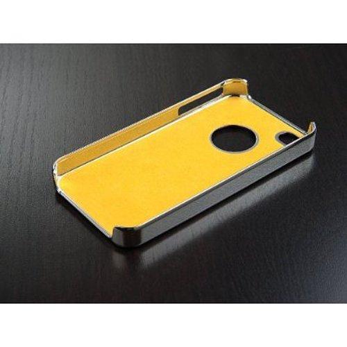 Leegoal(TM) Black Luxury Steel Aluminum Chrome Hard Back Case Cover