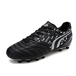 Dream Pairs Men's 160860-M Black Grey Cleats Football Soccer Shoes - 6.5 M US