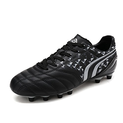 DREAM PAIRS Toddler 160860-K Black Grey Soccer Football Cleats Shoes - 10 M US Toddler