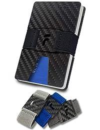 """FIDELO Carbon Fiber Minimalist Wallet - Slim RFID Credit Card Holder Money Clip for Men (Prestige""""3K"""")"""