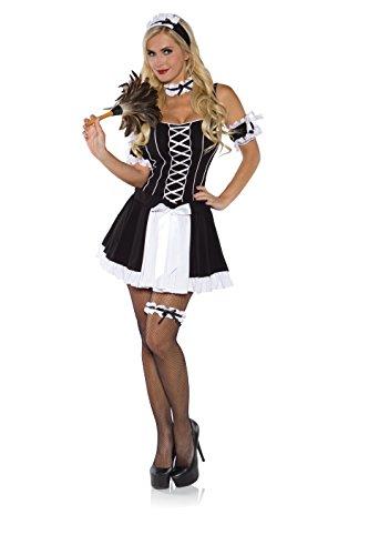 Upstairs Maid Costumes (Underwraps Women's Upstairs Maid, Black/White, Small)