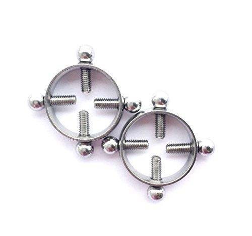 hyidealism pezón anillo bares Screwed círculo cuerpo piercing joyas par 14G se vende como par