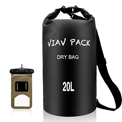 - VIAV Waterproof Dry Bag 20L [Lightweight Compact] Roll Top Water Proof Backpack Sack with Cellphone Case for Kayaking, Boating, Duffle, Camping, Floating, Rafting, Fishing