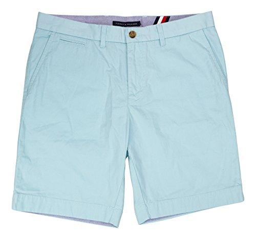 Tommy Hilfiger Men's Core Classic Fit Flat Front Shorts (Aquatic, 34)