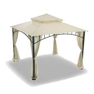 Garden Winds Replacement Canopy for Summer Veranda Gazebo Models L-GZ093PST, G-GZ093PST, (Will NOT FIT Any Other Frame)