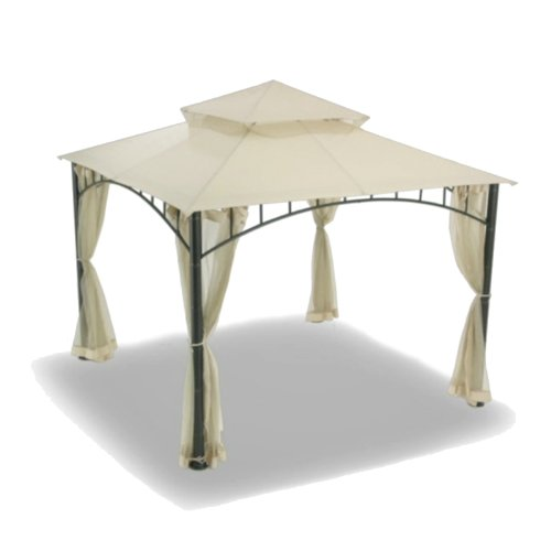 Garden Winds Replacement Canopy and Netting Set for Target Madaga Gazebo, RipLock 350 For Sale