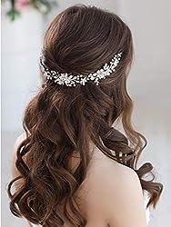 Vine Silver Bride Floral Headband