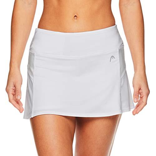 HEAD Women's Athletic Tennis Skort - Performance Training & Running Skirt - Stark White Heather, Medium