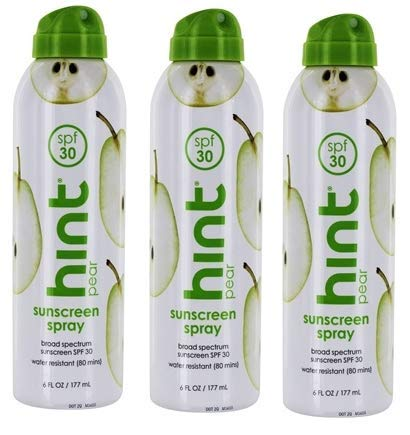 Sunscreen Spray Broad Spectrum Pear 30 SPF by Hind - 6 fl. oz - 3 pk by Unknown