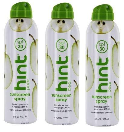 Sunscreen Spray Broad Spectrum Pear 30 SPF by Hind - 6 fl. oz - 3 pk