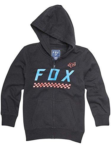 Fox Racing Boys Full Mass Hoody Zip Sweatshirts Large Black Fox Youth Sweatshirt