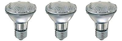 Pack of 3 Par 20 FL25 PAR20/FL Halogen Spot Light Bulb Replacement 120V 130V Base Flood Beam Lighting Range Hood Oven PAR20 Reflector Excel Bulbs DL Kitchen Bathroom Ceiling Can Lamp E26