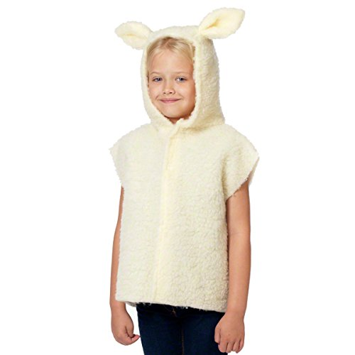 Charlie Crow Lamb/Sheep Costume for Kids one Size 3-8 Years Cream