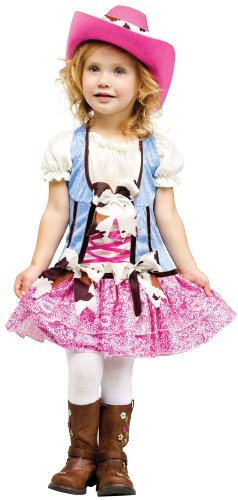 Girls Rodeo Halloween Costume Toddlers Rodeo Sweetie Costume SML 24MOS-2T (Cowgirl Costume For Toddler)
