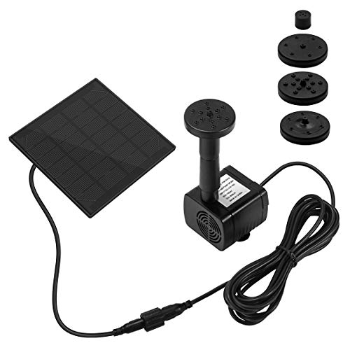 Ankway Solar Water Pump Kit 1.2W 3M/9.8ft Wire Length Solar Power Water Water Pump Kit by Ankway