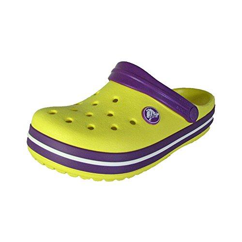Crocs Crocband Kids Slip On Clog Shoes, Sunshine/Amethyst, US 12/13 Little - Sandals Boys Yellow