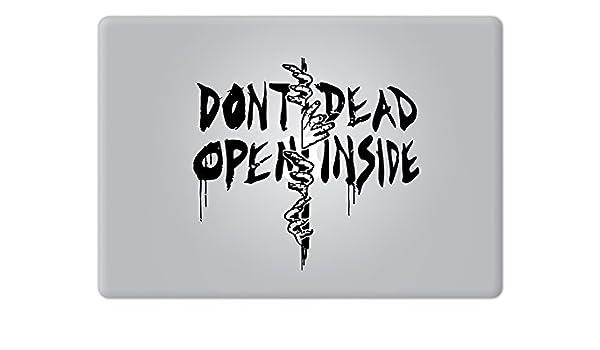 Dont Open Dead Inside The Walking Dead Apple MacBook Decal Vinyl Sticker Apple Mac Air Pro Retina Laptop Sticker