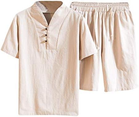 Jincheng665 パジャマ vネック tシャツ メンズ 半袖 上下セット トップス インナー トレーニング ルームウェア ウェア ショーツ パンツ ハーフパンツ シャツ 夏 ショートパンツ