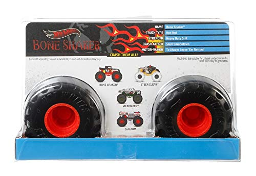 Hot Wheels Monster Trucks Bone Shaker die-cast 1:24 Scale Vehicle with Giant Wheels for Kids Age 3 to 8 Years Old Great…
