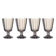 Villeroy & Boch Opéra Smoke Copa de agua, Set de 4, 360 ml, Vidrio de cristal, Transparente/Gris