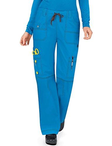 Dickies Gen Flex Women's Youtility Drawstring Elastic Waist Scrub Pant Large Riviera Blue