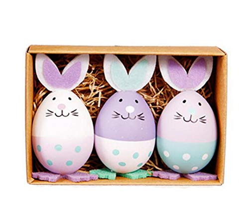AISION 3 Pack Easter Rabbits Bunny Eggs from AISION