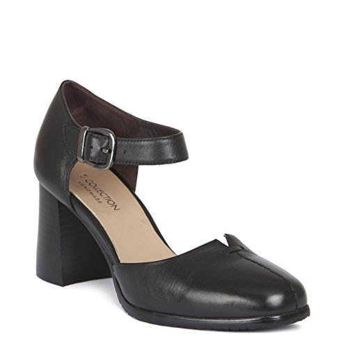 Heel Collection Women's Courts Block Strap TJ Leather wOI1vCvAq