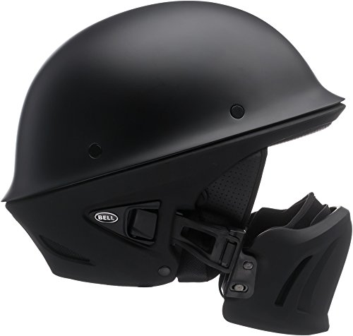 Bell Rogue Half-Size Motorcycle Helmet (Solid Matte Black, XX-Large)