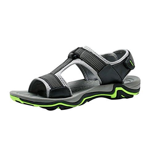 Uomo Ginnastica da per in All'aperto Scarpe Cinghie Estivi Yiiquanan Leggero Sandals Sandali Sportivi Velcro Green vSqwPO