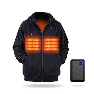 IUREK Veste Chauffante ZD940 Femme Homme Electrique Unisexe Manteau Chauffant USB Rechargeable Batterie 10000 mAh…