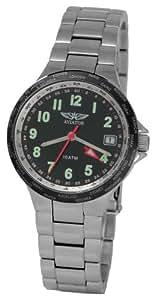 AVIATOR WORLDTIME - Reloj de mujer de cuarzo, correa de acero inoxidable color plata