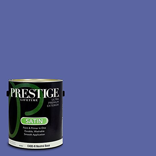 Prestige Paints E400-N-4004-8CVP Exterior Paint and Primer in One, 1-Gallon, Satin, Comparable Match of Valspar Twinkle Night, 1 Gallon, VS245-Twinkle