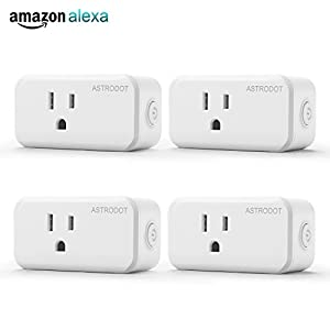 Wifi Smart Plug Mini, Astrodot Smart Home Power Control Socket, Remote Control Your Household Equipment from Everywhere, No Hub Required, Works with many online assitance (4)