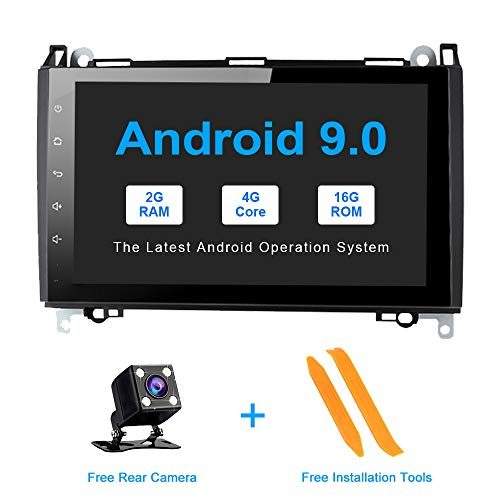 Radio Multimedia System Support GPS Navigation Android 9.0 Car Stereo Head Unit for Mercedes-Benz W169 W245 W639 Vito//Viano W906 Sprinter 2500//3000 VW Crafter 2006 Onwards Bluetooth