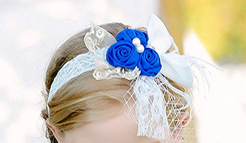 Bow Dream GirlDressKidsLacePartyWeddingFlowerGirlDress Headband