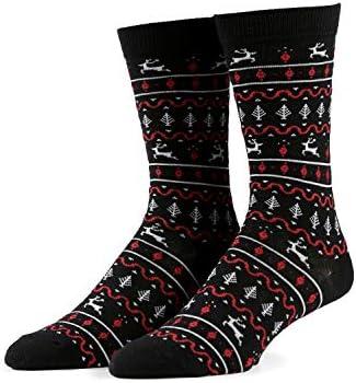 Men's Christmas Socks - Funny Holiday Xmas Socks Stocking Stuffers