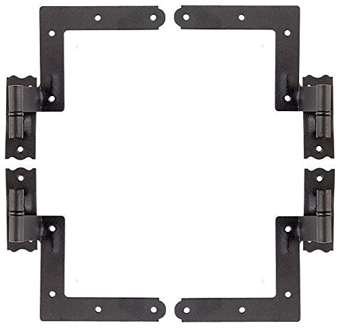 New York Shutter Hinges Exterior Brick Mount Set of 4 by Unknown