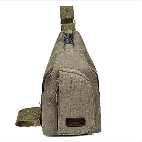 Bolso peque?o para el pecho de los hombres ocasionales bolsa de lona deportiva bolsa para hombres mochila multifunción con espalda al aire libre