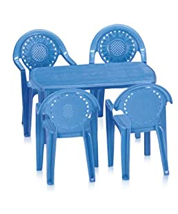 Nilkamal Toyset for Kids 4 Toy Chair and 1 Table