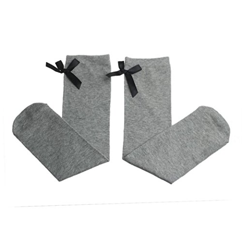 4 Pairs Baby Girls Leg Warmers Bowknot Cotton Stockings Socks - 7
