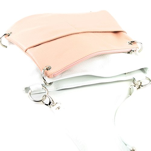 cuir à Messenger modamoda en sac Rosa bandoulière NT07 2in1 cuir de sac en sac Weiß ital dames sac HUqH7z